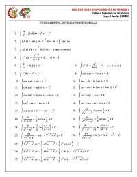 Fundamental-integration-formulas