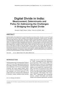 Digital devide in india