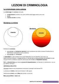 Slide criminologia - Università Bari