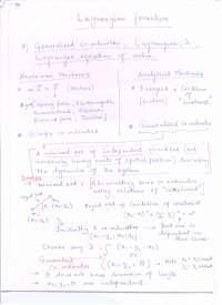 Lagrangian introduction