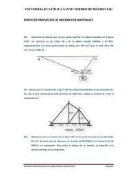 EJERCICIOS PROPUESTOS DE MECÁNICA DE MATERIALES. esfuerzo simple.pdf