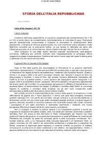 Storia dell'Italia repubblicana - Vecchio, Trionfini - riassunti