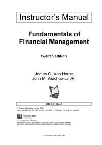 Fundamentals of Financial Management 12 edition