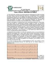Caso clínico angina estable