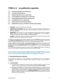 La población española: tema completo