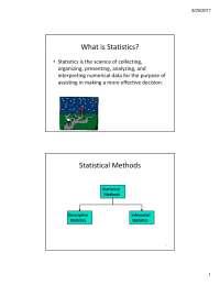 Descriptive statistics and probabilities distribution