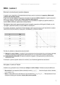 Metodi Numerici per l'Ingegneria Aerospaziale - Lezione 1 - Taylor, estrapolazione e interpolazione polinomiale. Matrice di Vandermonde.