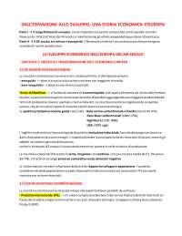 RIASSUNTO PARTE QUINTA - LO SVILUPPO ECONOMICO NELL'EUROPA DEL XIX SECOLO