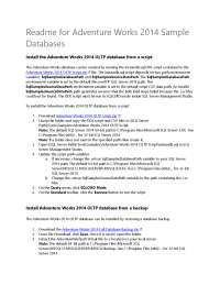 How to Install Adventure Works 2014 Sample Database