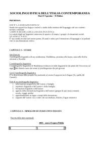ESAME COMPLETO - SOCIOLINGUISTICA ITALIANA. MATURI PIETRO