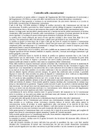Il controllo sulle concentrazioni e la disciplina dell'art. 106 TFUE