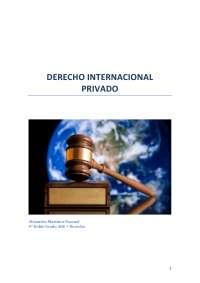 Resumen completo Manual Derecho Internacional Privado. edicion 2015