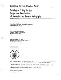ANSI N432-1980 Quality Assurance Standards for Industrial Radiography Equipment