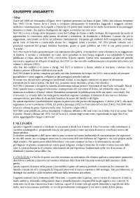 Giuseppe Ungaretti (vita e opere)