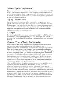 EQUITY COMPENSATION..