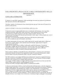 una proposta pedagogica nell intervento sulle dipendenze