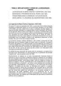 Historia contemporánea de España. Tema 2