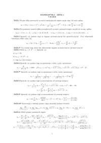 zadania do kolokwium z matematyki