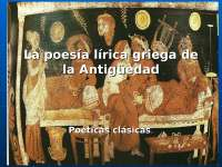 The Greek lyric poetry of the Antiquity