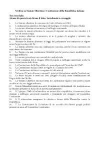 STATUTO ALBERTINO E COSTITUZIONE REPUBBLICA ITALIANA