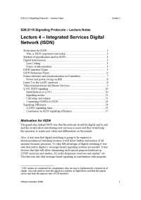Integrated Service Digital Network