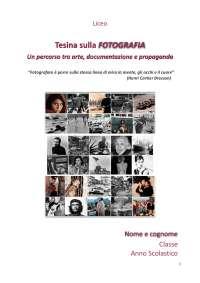Tesina di Maturità sulla Fotografia, versione PDF