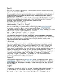 Credit Management Introduction