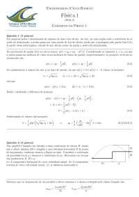Prova + Gabarito de Física 1