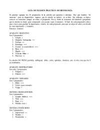 Guia de Examen Practico de Histologia