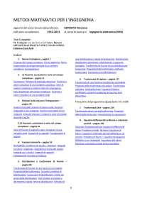 Metodi matematici per ingegneria prof. esposito