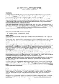 LA COMUNICAZIONE SOCIALE - PERUZZI, VOLTERRANI