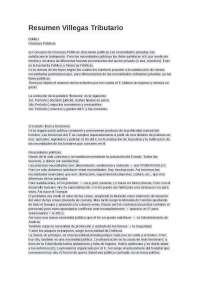RESUMEN DERECHO FINANCIERO Y TRIBUTARIO VILLEGAS