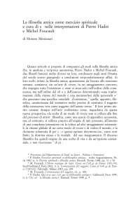 Moreno Molinari - La filosofia antica come esercizio spirituale e cura di sé