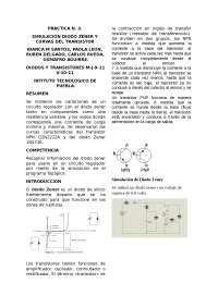 Practica del diodo zener, Guías, Proyectos, Investigaciones de Electrónica
