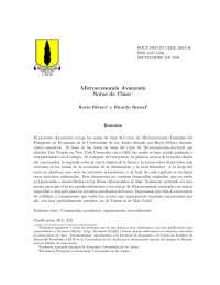 Repaso microeconomia Avanzada- Universidad de los Andes;