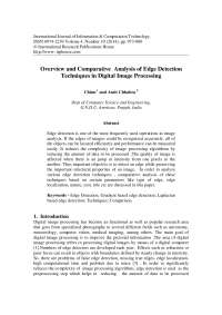 the project for edge detection analysis