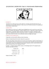 moles and calculations