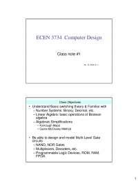 ECEN 3733 | Digital Circuit Design | Class Notes