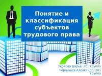 Субъекты трудового права РФ и их классификация