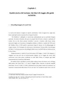 Analisi storica del turismo dai diari di viaggio alle guide turistiche