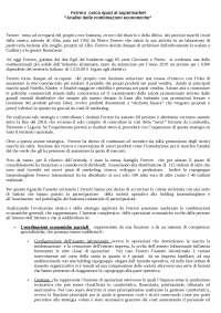 """ANALISI DELLE COMBINAZIONI ECONOMICHE- """"FERRERO CERCA SPAZI AL SUPERMARKET"""""""