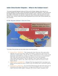 india-china border conflicts
