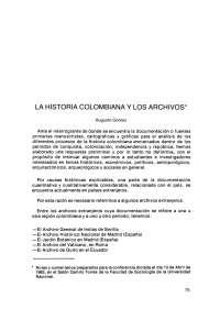La historia de los archivos en Colombia