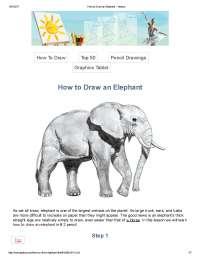 how to Draw elephant easilyyyyy