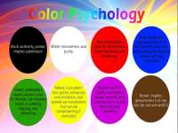 Psychological effects on colors