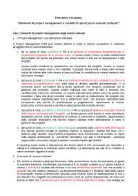 Elementi di Project Management di P. Ferrarese