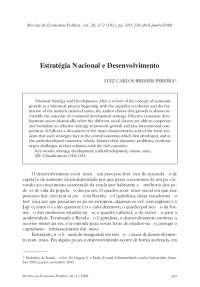 ESTRATÉGIA NACIONAL DE DESENVOLVIMENTO