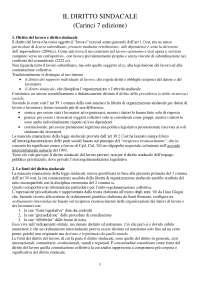 """riassunto """"Il diritto sindacale"""" Carinci, 7 edizione"""
