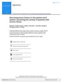 Factores macroergonomicos en el sistema paciente