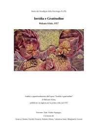 Invidia e gratitudine (Melanie Klein, psicoanalisi)